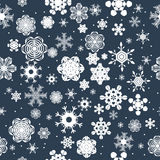 Nahtloser Hintergrund des Winters mit Schneeflocken Symbol von 2014 Stockfotos