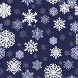 Nahtloser Hintergrund des Winters mit Schneeflocken Winterurlaub- und Weihnachtshintergrund Lizenzfreies Stockbild