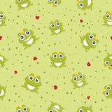Nahtloser Hintergrund Frosch-Prinzen. Stockbild
