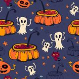 Nahtloser Hintergrund Halloweens Stockfotos
