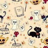 Nahtloser Hintergrund Halloweens Lizenzfreie Stockfotografie