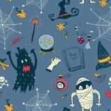 Nahtloser Hintergrund Halloweens Stockfotografie