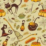 Nahtloser Hintergrund Halloweens Lizenzfreies Stockfoto