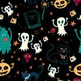 Nahtloser Hintergrund Halloweens. Lizenzfreie Stockfotos