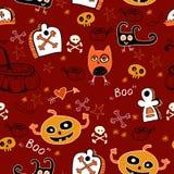 Nahtloser Hintergrund Halloweens. Für Kinder Lizenzfreies Stockbild