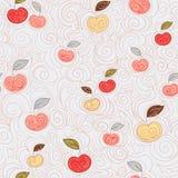 Nahtloser Hintergrund mit Äpfeln Stockbild