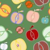 Nahtloser Hintergrund mit Äpfeln lizenzfreie abbildung