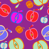Nahtloser Hintergrund mit Äpfeln Stockfoto