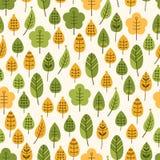 Nahtloser Hintergrund mit Blättern, Laubfall Stockfoto