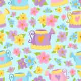 Nahtloser Hintergrund mit Blumen Lizenzfreie Stockbilder