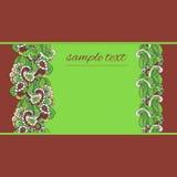 Nahtloser Hintergrund mit Blumen auf einem grünen Hintergrund Lizenzfreie Stockfotos