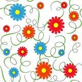 Nahtloser Hintergrund mit Blumen und Blättern Stockbild