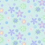 Nahtloser Hintergrund mit Blumen, von Hand gezeichnet Art Lizenzfreies Stockfoto