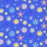 Nahtloser Hintergrund mit Blumen, von Hand gezeichnet Art Stockbild