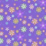 Nahtloser Hintergrund mit Blumen, von Hand gezeichnet Art Lizenzfreie Stockfotos