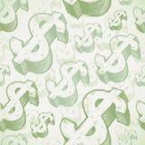 Nahtloser Hintergrund mit Dollarzeichen stock abbildung