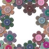 Nahtloser Hintergrund mit Einklebebuchblumen Lizenzfreies Stockfoto