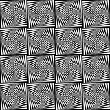 Nahtloser Hintergrund mit Elementen der Quadrate optisch Stockfoto
