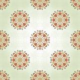 Nahtloser Hintergrund mit empfindlichen runden mit Blumenelementen Stockbilder