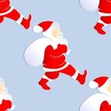 Nahtloser Hintergrund mit Farbe Santa Claus lizenzfreie abbildung