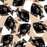 Nahtloser Hintergrund mit Fischen stock abbildung