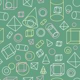 Nahtloser Hintergrund mit geometrischem Muster ENV, JPG Lizenzfreie Stockfotografie