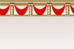 Nahtloser Hintergrund mit Grenze Lizenzfreies Stockfoto