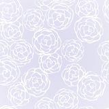 Nahtloser Hintergrund mit Hand gezeichneten leichten Rosen vektor abbildung