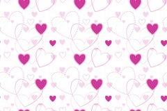 Nahtloser Hintergrund mit Herzen Stockfotos