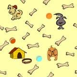 Nahtloser Hintergrund mit Hunden Stockbild
