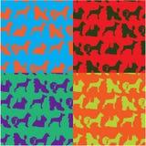 Nahtloser Hintergrund mit Hunden Lizenzfreies Stockbild