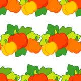 Nahtloser Hintergrund mit Kürbisen thanksgiving Erntefest Lizenzfreies Stockfoto