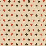 Nahtloser Hintergrund mit Kartenklagen stock abbildung