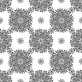 Nahtloser Hintergrund mit Mandala Geometrische Beschaffenheiten der Weinlese Farbiges Nettomuster Dekorativer Hintergrund für Kar Stockbilder