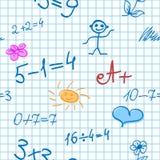 Nahtloser Hintergrund mit Mathe-Formeln Lizenzfreie Stockfotos