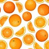 Nahtloser Hintergrund mit Orangen. Lizenzfreie Stockfotos