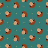Nahtloser Hintergrund mit Pilzen Lizenzfreie Stockbilder