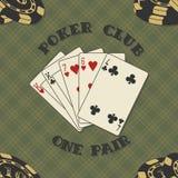 Nahtloser Hintergrund mit Pokerkarten für Stockbilder