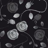 Nahtloser Hintergrund mit Rosen Stockfotografie