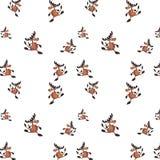 Nahtloser Hintergrund mit Rotwild stock abbildung