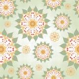 Nahtloser Hintergrund mit runden mit Blumenelementen Lizenzfreie Stockfotos