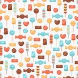 Nahtloser Hintergrund mit Süßigkeiten Lizenzfreie Stockfotos