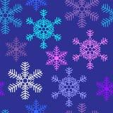 Nahtloser Hintergrund mit schönem Schneeflocken Weihnachten Stockfotos