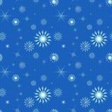 Nahtloser Hintergrund mit Schneeflocken Stockfotografie