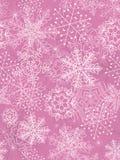 Nahtloser Hintergrund mit Schneeflocken. Lizenzfreie Stockfotografie