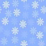 Nahtloser Hintergrund mit Schneeflocken lizenzfreie abbildung