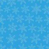 Nahtloser Hintergrund mit Schneeflocken Stockbilder