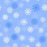 Nahtloser Hintergrund mit Schneeflocken, Illustration stock abbildung