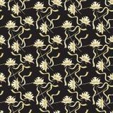 Nahtloser Hintergrund mit schwarzem Gold lizenzfreie abbildung