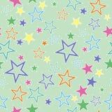 Nahtloser Hintergrund mit Sternen Stockbild